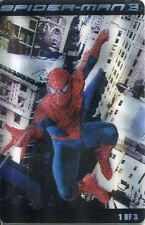 Spiderman 3 The Movie Kraft Handi-Snacks Lenticular Card #1