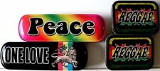 "4-TINS (CLOSEOUT)>""PEACE""/""ONE LOVE""/2 ""REGGAE"">FREE U.S. SHIPPING"