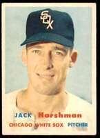 1957 Topps Set Break2 Ex+ Centered Jack Harshman Chicago White Sox #152