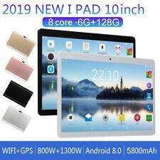 10'' Tablet PC 6GB+128GB Bluetooth  Octa 8 Core Dual Sim Android 8.0 Telecamera