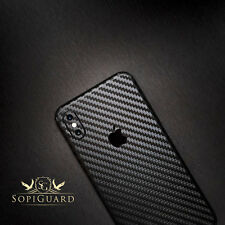 SopiGuard Carbon Fiber Vinyl Skin Full Body Wrap for Apple iPhone X 10