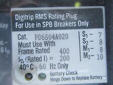WESTINGHOUSE PD6S04A020, 200 AMP RATING PLUG FOR SPB100 BREAKER
