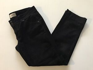 COUNTRY ROAD Black Corduroy Straight Leg Jeans Womens Size 14