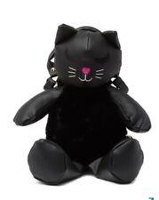 Betsey Johnson PLUSH BLACK KITTY CAT BACKPACK PURSE BAG CUTE UNIQUE BRAND NEW