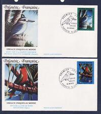 Polynésie   enveloppe  1er jour  faune  oiseaux uniques    1991