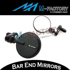 For Kawasaki ZX-6R / RR 03 04 05 06 Black CNC Folding Bar Ends Mirrors