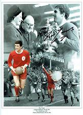 Ron YEATS Signed Autograph Liverpool Montage 16x12 Photo AFTAL COA