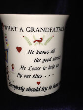ORIGINAL RED PLATE CO 1985 WHAT A GRANDFATHER IS MUG PEOPLE DOGS CAMPFIRE WAGON