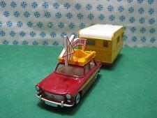Vintage - Dinky Toys 882/564  PEUGEOT 404 avec Caravane Armagnac 420  Pinder