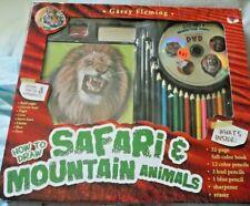 HOW TO DRAW SAFARI & MOUNTAIN ANIMALS
