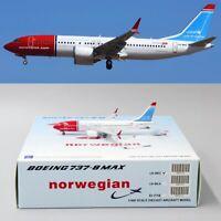 •• SALE •• Norwegian B737-8MAX Reg: LN-BKC JC Wings 1:400 Diecast Models