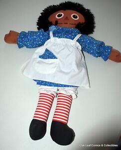 """Playskool RAGGEDY ANN African-American Black AA 22"""" Cloth Doll"""