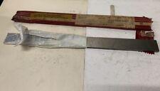 Fer plat acier à outil rectifié - larg 40 mm x ép 8 mm - Lg 505 mm - Etat neuf