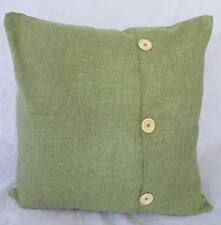 Spring Green Solid Colour Linen LOOK Cushion Cover 45cm