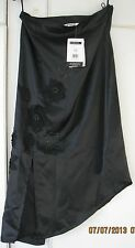 LADIES GEORGE BLACK APPLIQUED SKIRT WITH FRONT SLIT. SIZE 12. NWT. Fancy Dress.