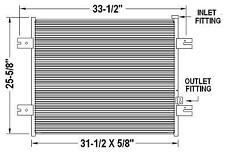 Peterbilt 379 Model Replacement AC Condenser (Part# PT40757P)