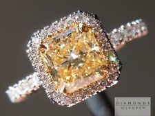 1.07ct W-X VS2 Radiant Cut GIA Hand Forged Halo Ring R4978 Diamonds by Lauren