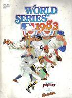 1983 World Series Program Philadelphia Phillies Baltimore Orioles unscord Ripken
