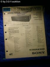 Sony Service Manual STR DE335 /SE391 /V323 FM/AM Receiver (#5197)