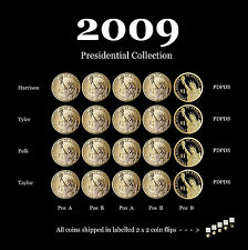 2009 P+D+S Presidential Dollars ~ PD Both Positions A and B (20 Coins)
