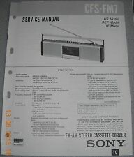Sony cfs-fm7 2-BAND STEREO CASSETTE-RECORDER service manual