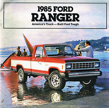 1985 Ford RANGER PickUp Truck Brochure w/Color Chart: XL,XLS,XLT,4X4,Pick Up,