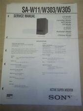 Sony Service Manual ~ SA-W11/W303/W305 Active Super Woofer ~ Original ~ Reparatur