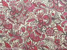 Liberty Tana Césped Tela De Algodón Laurent 'B' 2.2m Púrpura/Rosa Diseño 220cm
