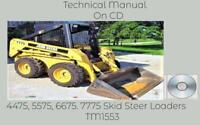 John Deere 4475 5575 6675 7775 Skid Steer Loaders Technical Manual TM1553 On CD