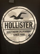 NWT Men's Hollister Black Short Sleeved Camo Graphic T-Shirt M