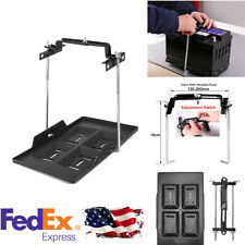 Car Storage Battery Holder Hold Down Metal Tray & Adjustable Clamp US Stock