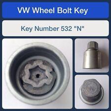 """Genuine VW Verrouillage Roue Boulon/écrou clé 532 """"N"""""""