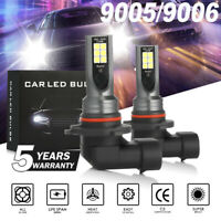2pcs 9005 HB3 LED Headlight Kit Combo Total 2200W 330000LM High Low Beam 6000K
