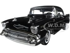 1957 CHEVROLET BEL AIR HARD TOP BLACK TIMELESS CLASSICS 1:18 BY MOTORMAX 73180