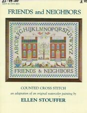 REDUCED! Vintage 1988 Friends & Neighbors Cross Stitch Leaflet -Kept in Stitches