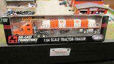 DCP #30262 Panella trucking PETE 387 SEMI TRUCK TARPED FLATBED TRAILER 1:64/ FC