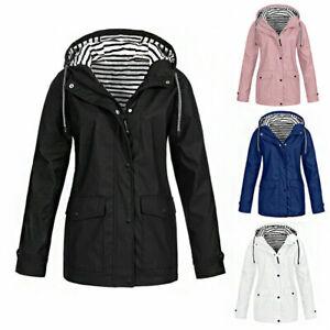 Women Waterproof Jacket Ladies Wind Raincoat Hooded Rain Forest Coat Ski Outdoor