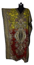 Gorgeous Kaftan Dress, Hippy Boho Midi Caftan, Free Size, Night Gown, Sundress