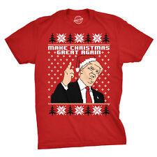 Mens Make Christmas Great Again Donald Trump Funny Ugly Xmas T Shirt (red) XL