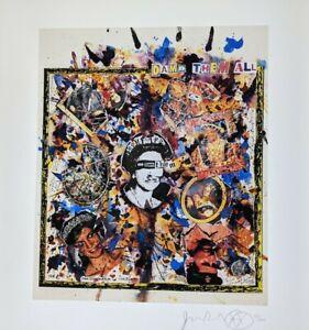 Jamie Reid God Damn Them All,Sex Pistols Signed Ltd edit fine art print 21/300