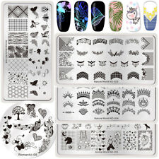 5Pcs NICOLE DIARY Nail Art Stamping Plates French Stylish Stamp Image Plates Kit