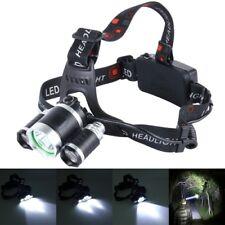 Profi Kopflampe Stirnlampe mit T6 CREE LED Dual Licht und Power Akku Alu Outdoor