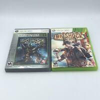 Bioshock & Bioshock Infinite Video Game Lot (Microsoft Xbox 360) Complete CIB