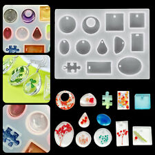12pcs Resin Casting Silicone Molds Epoxy Spoon Kit Jewelry Making Pendant Craft
