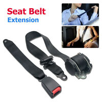 Universal Auto Car 3Point Seat Lap Belt Set Adjustable Retractable Diagonal Belt