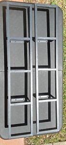 2 IKEA Lerberg Media Wall Mount CD DVD Shelf Racks charcoal grayblack 10035