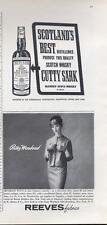 1960 Cutty Sark - Reeves Patty Woodard PRINT AD