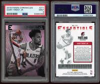 2018-19 Panini Chronicles Gary Trent Jr PSA 9 RC #211 Rookie Card Trail Blazers