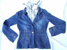 MISS SIXTY JACKET SIZE M 10 12 FITTED DENIM WITH HOODY AWESOME RAMIE BLEND