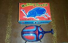 VINTAGE TIN wind up toy JAPAN WALKING BEETLE K ***in box tin toy lot